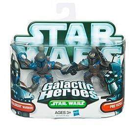 Star Wars 2010 Galactic Heroes Mini Figure 2Pack Mandalorian Warrior Pre Vizsla