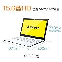 mouse ノートパソコンMB-BN25CS2-ZN(Windows10/15.6inch/1366×768/Celeron/4GBメモリ/SSD240GB)
