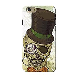 ArtzFolio Hipster Skull : Apple iPhone 7 Matte Polycarbonate ORIGINAL BRANDED Mobile Cell Phone Protective BACK CASE COVER Protector : BEST DESIGNER Hard Shockproof Scratch-Proof Accessories : Conceptual, Vintage