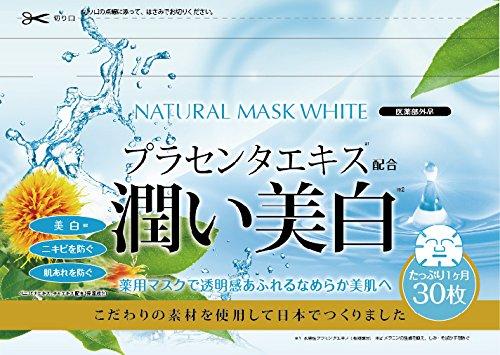 ナチュラルマスク ホワイト 30枚入り (医薬部外品)