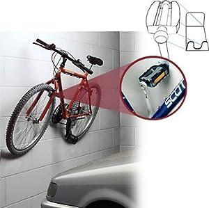 gancio bici universale bruns supporto da muro. Black Bedroom Furniture Sets. Home Design Ideas