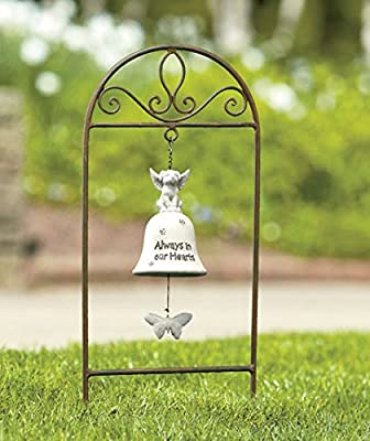 Dog Memorial Garden Stake with Bell
