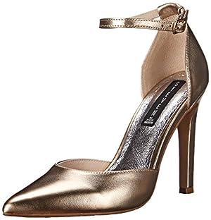 STEVEN by Steve Madden Women's Adell Dress Pump, Gold/Metallic, 7 M US