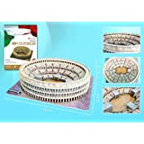 Roman Colosseum 3D Puzzle with Book, 84-Piece