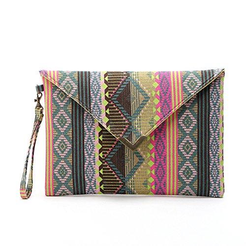 Malloom® Mujer étnico Geometría Bolso Cartera Coin Bag (#3)
