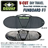 DESTINATION V-CUT DAY TRAVEL 5mm PAD NYRON #10 ZIP【FUNBOARD】8'0