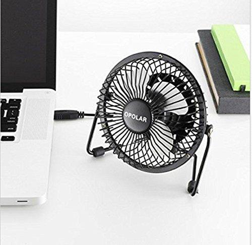 OPOLAR F401 Mini USB Table Desk Personal Fan Design, Quiet Operation 3.9' USB Cable, High Compatibility, Black (High Velocity Vent Fan compare prices)