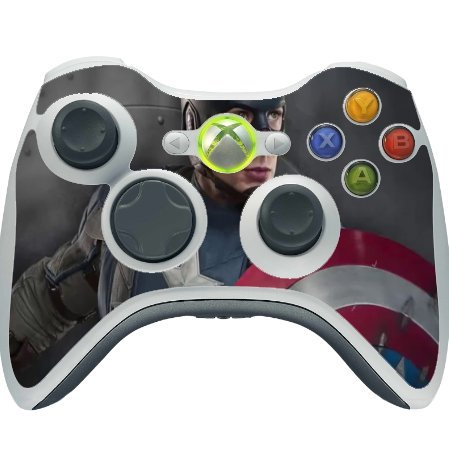 Comic Book Hero Xbox 360 Wireless Controller Vinyl Decal Sticker Skin by Compass Litho (Captain America Game Xbox 360 compare prices)