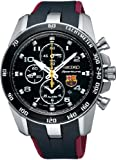 Seiko Sportura FC Barcelona Chronograph Black Dial Mens Watch SNAE93