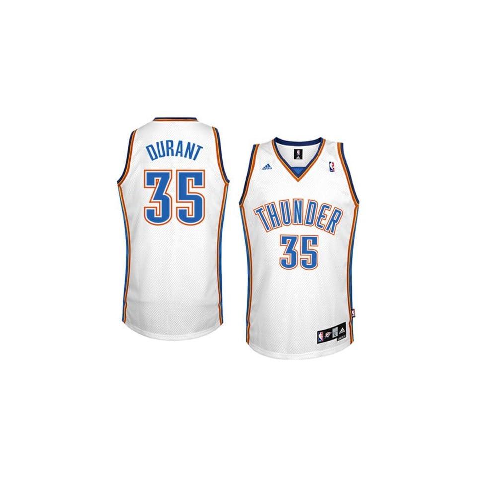 adidas Oklahoma City Thunder #35 Kevin Durant White Swingman Basketball Jersey