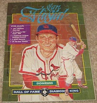 Stan Musial 1988 Donruss Puzzle Set (63 Pieces) Diamond King HOF St. Louis Cardinals - 1