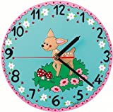 Mila Hand Painted Childrens Wall Clock, Little Bambi, Diameter 22cm