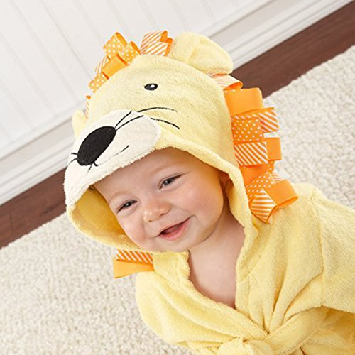 SySrion Lovely Baby Bath Time Hooded Spa Robe, Lion, 0-10 Months