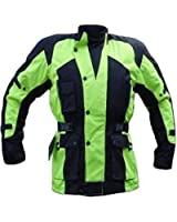 CJ-1019 High Visibility Motorcycle Jacket - Waterproof Thermal,Vented & Armoured