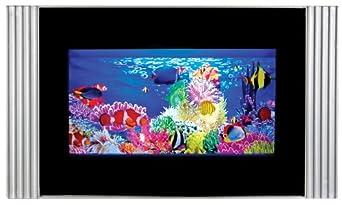 Tropical fish aquarium night light rotating lamp black for Fish tank night light