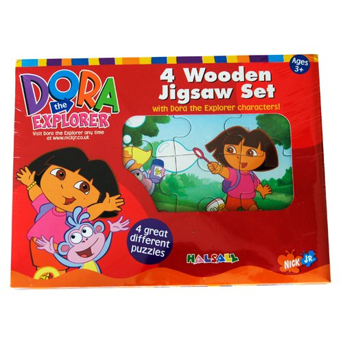 Dora The explorer 4 Wooden Jigsaw Puzzles Set
