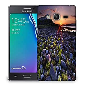 Snoogg Sunset On The Rocky Shore Designer Protective Phone Back Case Cover For Samsung Galaxy Tizen T3