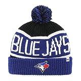 MLB Toronto Blue Jays '47 Calgary Cuff Knit Beanie with Pom, Black, One Size