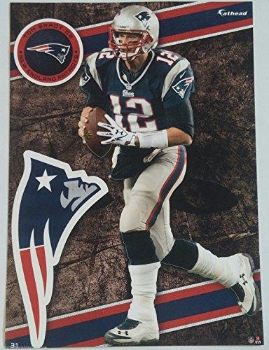 "Tom Brady 2014 NFL Fathead Tradeables 5"" x 7"" New England Patriots - #31"