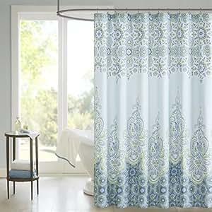 Madison park sarita shower curtain blue - Madison park bathroom accessories ...