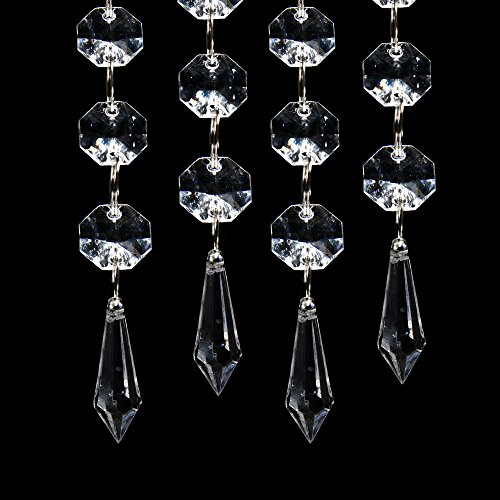 XCSOURCE 30PCS Acrylic Crystal Clear Garland Hanging Bead Curtain Wedding Club Party Decoration WV220 (Hanging Acrylic Crystals compare prices)