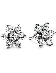 Kiara Jewellery Swarovski Elements Traditional White Silver Earrings For Women - B00OA29CNA