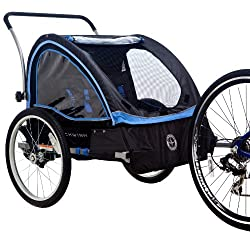 Schwinn Scout Bicycle Trailer Black/Blue