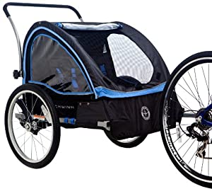 Schwinn Scout Bicycle Trailer, Black Blue by Schwinn