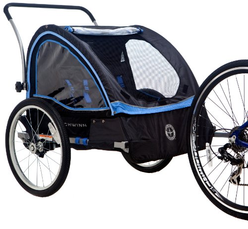 Great Features Of Schwinn Scout Bicycle Trailer, Black/Blue