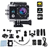 Ace-Cam 4K Ultra HD Upgraded Wifi Sports Action Camera - 16MP 170° Extreme Wide Angle Lens