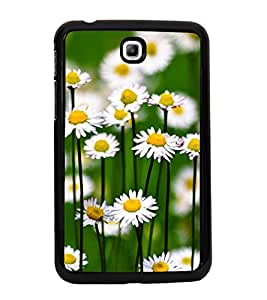 Fuson Premium 2D Back Case Cover Floral Pattern With Multi Background Degined For Samsung Galaxy Tab 3 T211 P3200