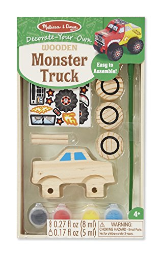 Melissa & Doug Decorate-Your-Own Wooden Monster Truck Craft Kit (Monsters Inc Game Of Life compare prices)