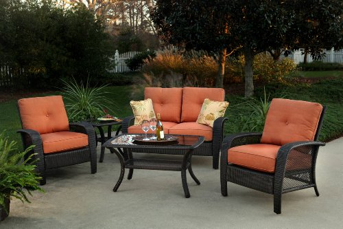 4pc Arafel Outdoor Wicker Resin Patio Sofa Seating Set Furniture Sale