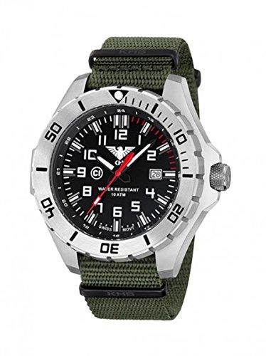 KHS Tactical orologio uomo Landleader Steel KHS.LANS.NO
