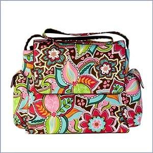 OiOi Designer Floral Messenger Diaper Bag