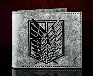 Attack on Titan Comic and Animation Wallet- Grey
