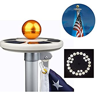 Flagpole Upgraded Brightest Longest Energy Weatherproof