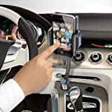 Excelvan Hands-Free FM Transmitter + Car Charger + Remote for iPhone 4S/4/3GS/3G iPOD