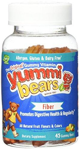 Yummi Bears Fiber Supplement for Kids, 45 Count Gummy Bears (Yummi Bears Fiber compare prices)