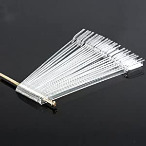 350buy 50 False Nail Art Board Tips Stick Polish Foldable Display Practice Fan Clear