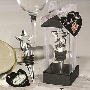 Star Design Wine Bottle Stopper Wedding Favors, 16