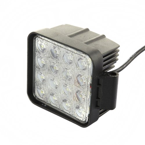Tabstore Waterproof Square Flood Beam 48W Led Work Light Lamp Off Road High Power Atv Jeep 4X4 Tractor Truck Light, Black