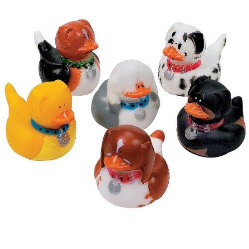 Fun Express - One Dozen (12) Dog Rubber Duckys
