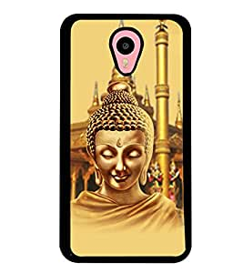 Fuson Premium Lord Buddha Metal Printed with Hard Plastic Back Case Cover for Meizu M1 Note