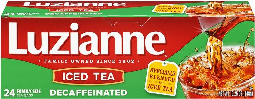 Luzianne Decaffeinated Tea, Tea Bags, 24-Count, 5.25-Ounce Packages (Pack of 4) by Luzianne