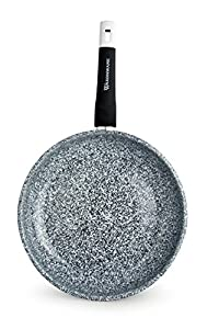 WaxonWare Non-Stick Granite/Ceramic Coated Fry Pan/Skillet With Heat Resistant Silicone Handle and Table Mat
