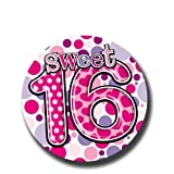 Jumbo Birthday Party Badge 150mm x 150mm - Girls Sweet 16