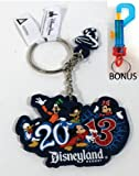 DISNEYLAND 2013 Mickey and Friends Rubber Keychain - (Comes Sealed) - Disney Parks Exclusive & Limited Availability + BONUS Colored Belt Clip Key Chain Included