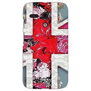 Jugaaduu Floral Back Cover Case For Moto G (1st Gen)