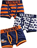 Vaenait Baby 2-7años Niños 100% algodón ropa interior Slip 3unidades Boxer Jeep Azul azul extra-large